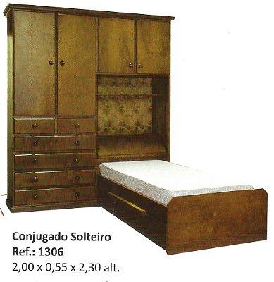 Dormitório Flávio Móveis  Gramado 2,00 x 55 x 2,30