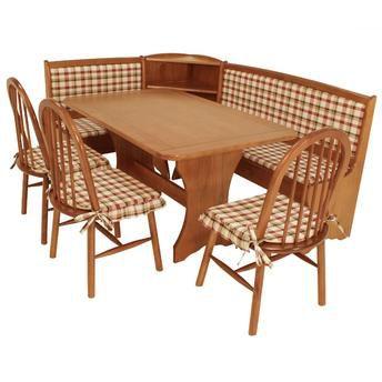 Sala de Jantar Banco De Canto Alemão Flávio Móveis - 03 Cadeiras - Compre Pelo PagSeguro em até 17 Parcelas - Clique em Ver Mais seu Parcelamento.