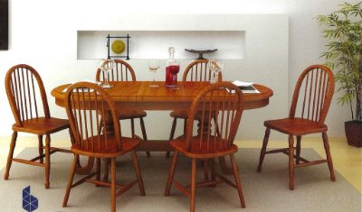 Sala de Jantar Mesa Elástica Flávio Móveis 1,80 x 90 + 40cm