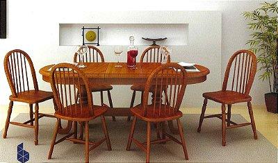 Sala de Jantar Mesa Elástica Flávio Móveis 1,50 x 90 + 40cm