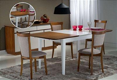 Sala de Jantar 1,20 x 80 ( + 50cm Elástica ) - 04 Cadeiras