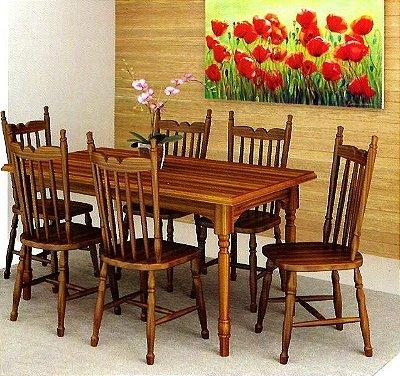 Sala de Jantar Mesa Retangular Flávio Móveis Gramado 2,00 x 1,00
