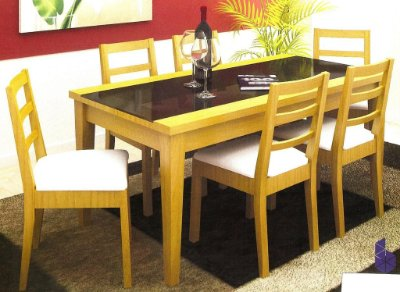Sala de Jantar Mesa Retangular Flávio Móveis  Gramado 1,80 x 90