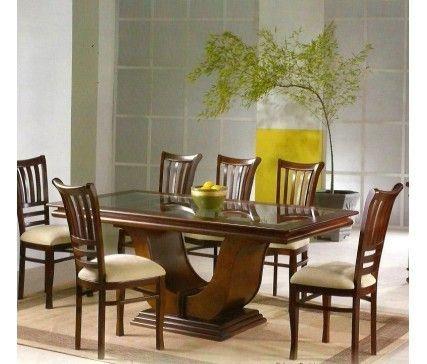 Sala de Jantar Mesa Retangular Flávio Móveis 2,00 x 95