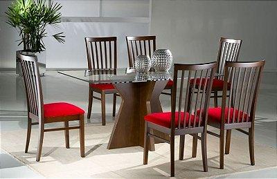 Sala de Jantar Mesa retangular Flávio Móveis  1,80 x 1,00 x 12mm