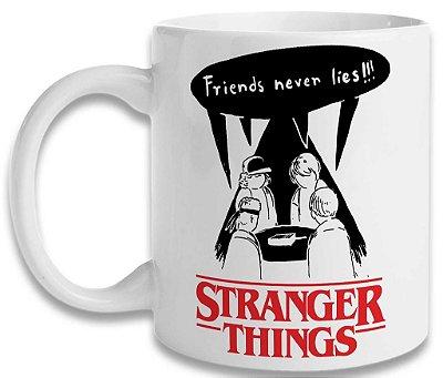 Caneca Stranger Things - Friends Never Lies