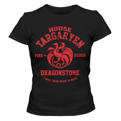 Camiseta Feminina Game of Thrones - House Targaryen Dragonstone