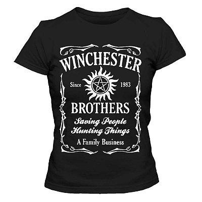 Camiseta Feminina Supernatural - Winchester Brothers