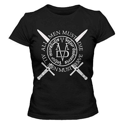 Camiseta Feminina Game of Thrones Valar Morghulis