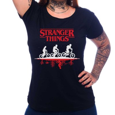 Camiseta Feminina Stranger Things - Upside Down