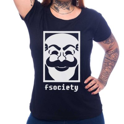 Camiseta Feminina Mr. Robot - Fsociety