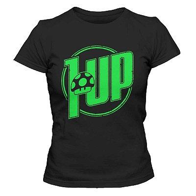 Camiseta Feminina Mario Bros - 1 UP