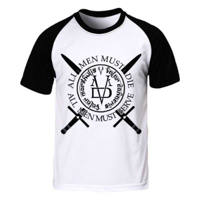 Camiseta Raglan Game of Thrones - Valar Morghulis