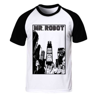 Camiseta Raglan Mr. Robot - City