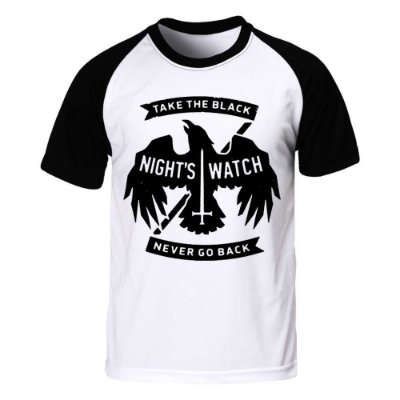 Camiseta Raglan Game of Thrones - Nights Watch