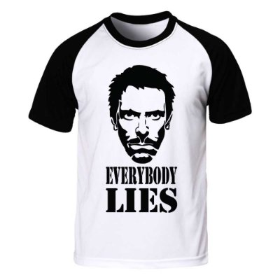 Camiseta Raglan Dr. House - Everybory Lies