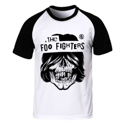 Camiseta Raglan Foo Fighters - Skull