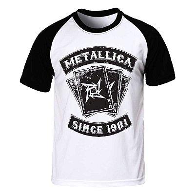 Camiseta Raglan Metallica