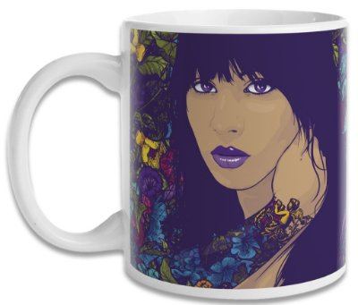 Caneca Woman and Flower Style