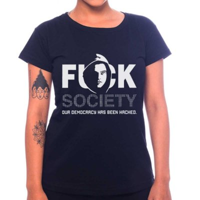Camiseta Feminina Mr. Robot -FK Society