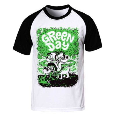 Camiseta Raglan Green Day - Dog
