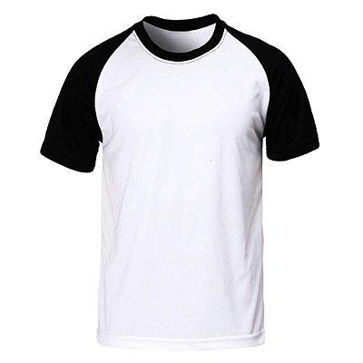 Camiseta Raglan Lisa Masculina - Branca