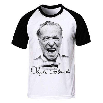 Camiseta Raglan Charles Bukowski