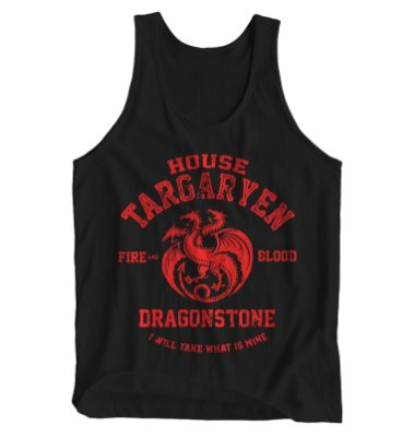 Regata Masculina Game of Thrones - House Targaryen Dragonstone