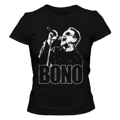 Camiseta Feminina U2 - Bono