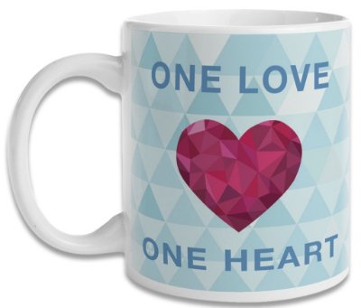 Caneca One Love - One Heart