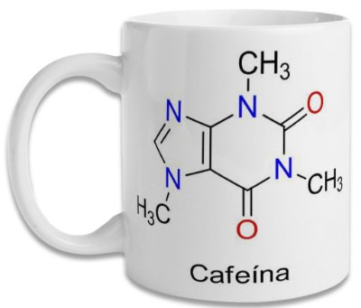 Caneca Molécula de Cafeína