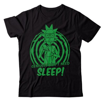Camiseta Rick and Morty - Don't Sleep