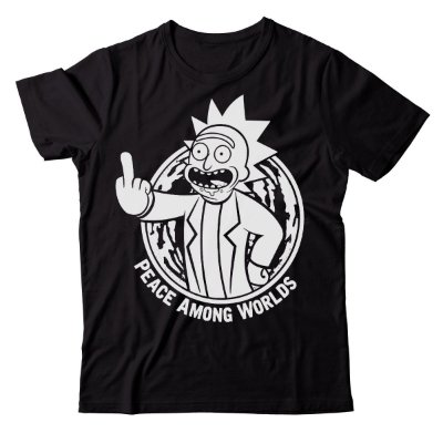 Camiseta Rick and Morty - Peace