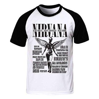 Camiseta Raglan Masculina Nirvana - BKF