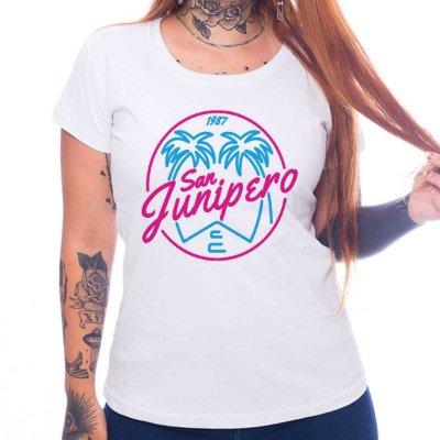 Camiseta Feminina Black Mirror - San Junipero
