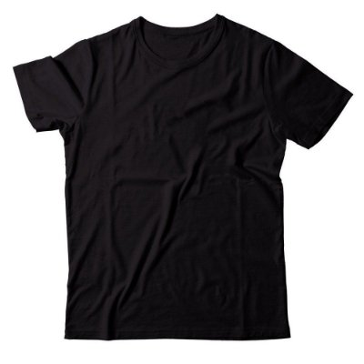 Camiseta Lisa Masculina Malha Penteada Confort - Preta