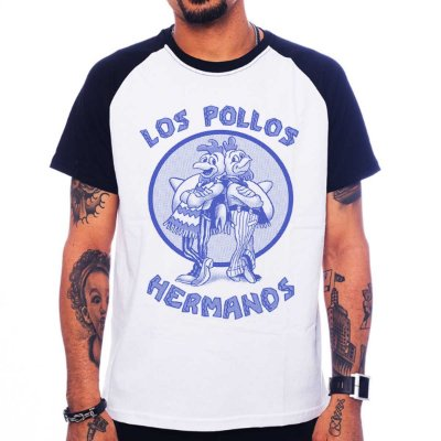 Camiseta Raglan Breaking Bad - Los Pollos Hermanos