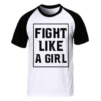 Camiseta Raglan Fight Like a Girl