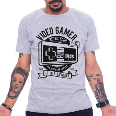Camiseta Video Gamer Retro Club