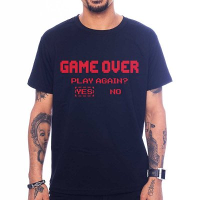 Camiseta Game over - Play Again?