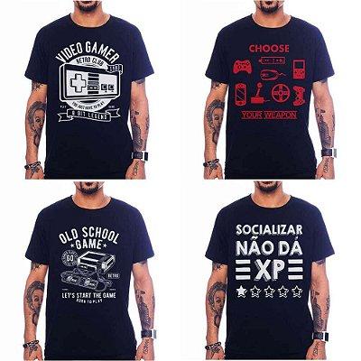 Kit 4 Camisetas Games