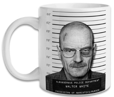 Caneca Breaking Bad Heisenberg Mugshot