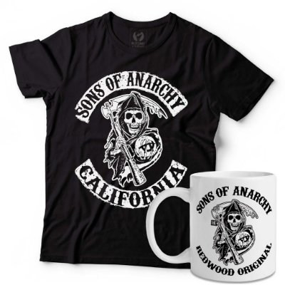 Kit Camiseta Sons of Anarchy + Caneca Sons of Anarchy