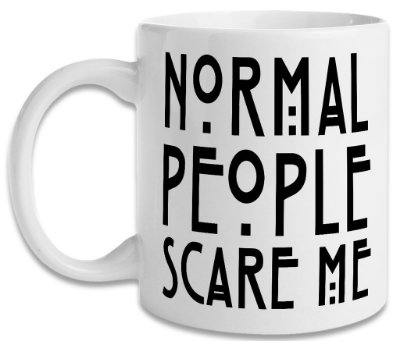 Caneca American Horror Story - Normal People Scare Me