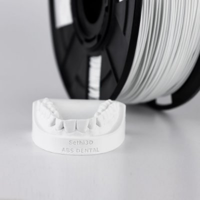 Filamento ABS Branco Dental  1,75mm