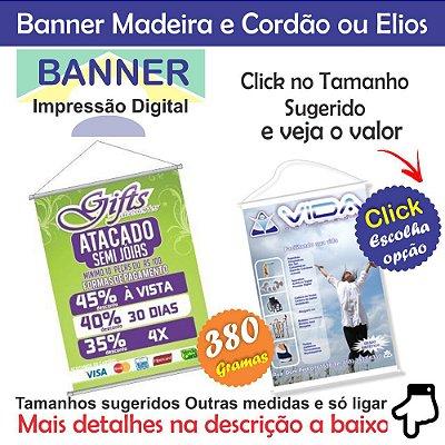 Banner lona impressão digital Fosco ou Brilho