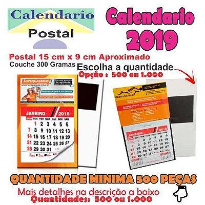 Calendários 2019 Postais 2019 Imantado Com Calendário