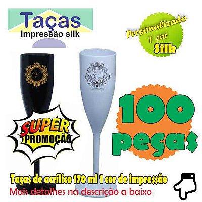 100 Taças Plastica 1 cor de Impressão