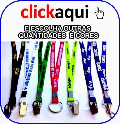 CORDÃO PARA CRACHÁ 1 COR DE IMPRESSÃO SILK 12mm