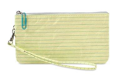 Carteira Clutch -  Folha Caderno Amarelo